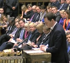 Osborne delivering the autumn statement