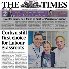 times front page copy