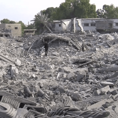 Destruction in Gaza after Israeli bombardment, part of Operation Pillar of Defense Date	by Scott Bob