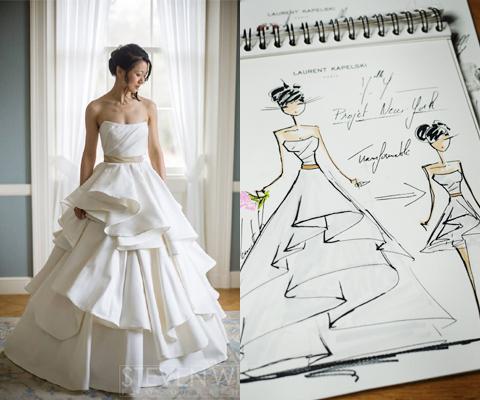 Robe de mariage sur mesure laurent kapelski le futur mari for Loue robe de mariage utah