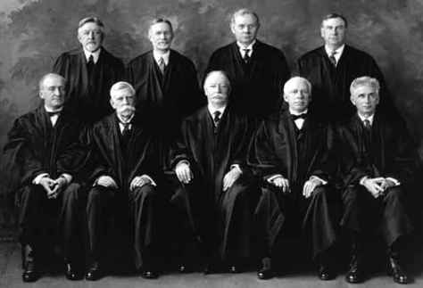 The members of the U.S. Supreme Court in 1925. Notice the symbols of authority in the picture. You might say judges rely almost exclusively on positional power.