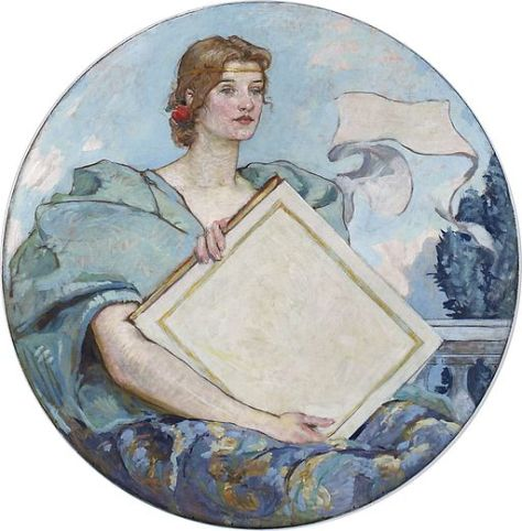 "From the Library of Congress. Caption underneath the painting reads, ""IGNORANCE IS THE CVRSE OF GOD, KNOWLEDGE IS THE WING WHEREWITH WE FLY TO HEAVEN."""
