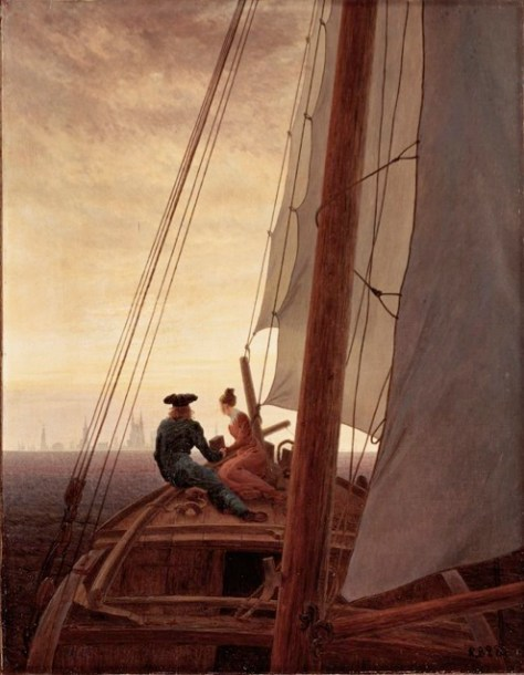 The first step is to activate your imagination and visualize where you want to be in the future. For if you don't know where you're going any path can take you there. Painting by: Caspar David Friedrich (1774 to 1840) – On the Sailing Boat