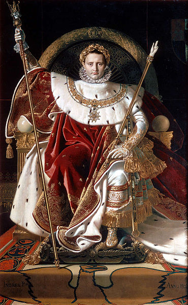 LeadIs_Napoleon_on_his_Imperial_throne