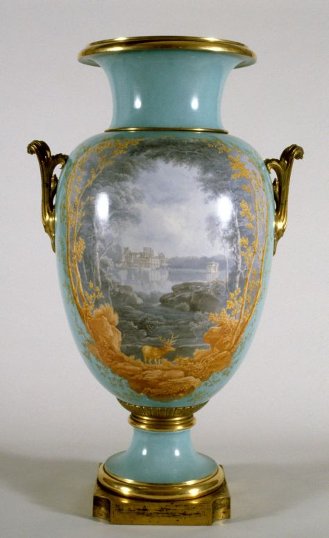 Porcelain vase with landscape. An object requiring both technical and aesthetic talent. Jules André (French, 1807-1869)