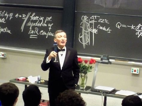 MIT Professor Donald Sadoway a lecture on 12/9/2009. Image by ThePlaz.
