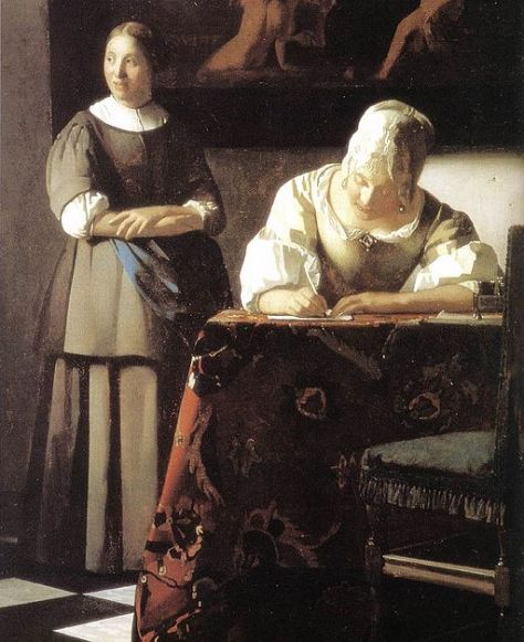 Johannes_Vermeer_-_Lady_Writing_a_Letter_with_Her_Maid_(detail)_-_WGA24698