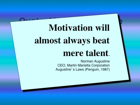 """Motivation Quote that says, """"Motivation will almost always beat mere talent."""""""