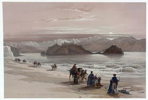 David Roberts (1796–1864): Isle of Graia Gulf of Akabah Arabia Petraea
