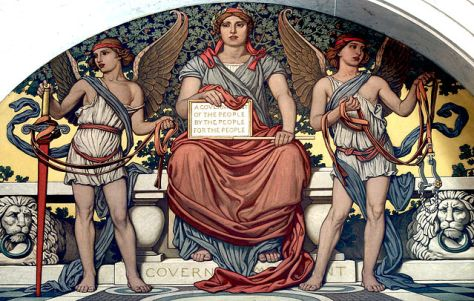 Detail from Government. Mural by Elihu Vedder. Lobby to Main Reading Room, Library of Congress Thomas Jefferson Building,