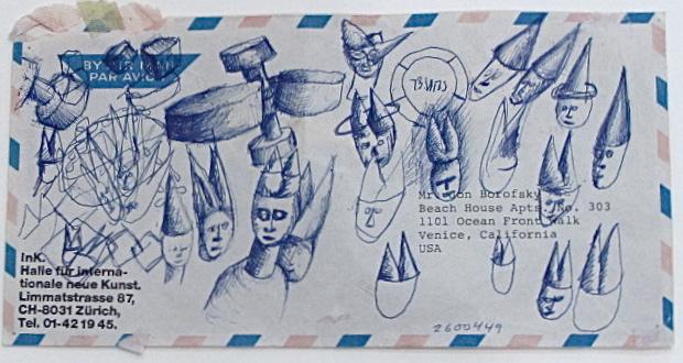 Jonathan Borofsky Airmail Envelope # 260449