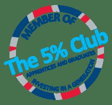 The 5% Club logo CMYK