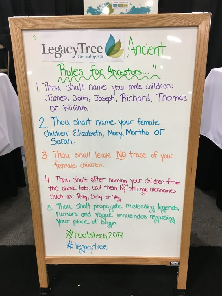 RootsTech 2017 Genealogy Conference Rules for Ancestors
