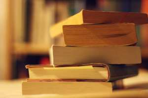 Stack of Genealogy Record Books