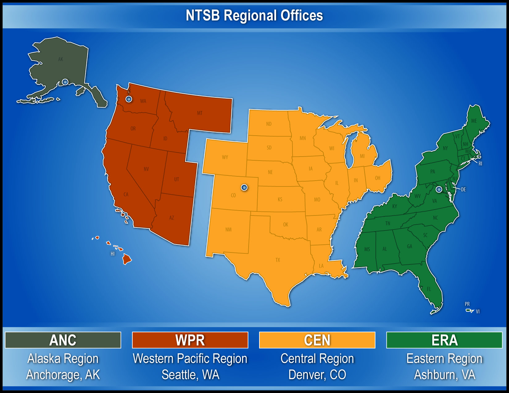NTSB Regional Offices