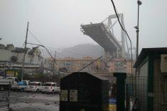 Ponte Morandi, concreto il rischio di dispersione di amianto