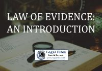 The Law of Evidence: An Introduction