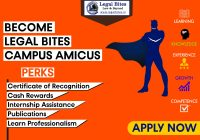 Call for Applications: Legal Bites Campus Amicus Program 2020