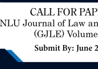 Call for Papers: GJLE Third Edition | GNLU