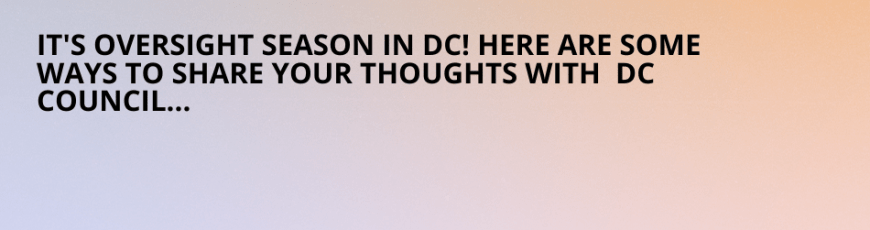 How well were you served in 2020? Here's how to let DC Council know!