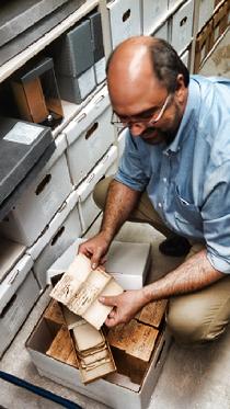 NJ Archivist Joseph Klett with West Jersey Proprietors records