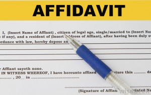 Format of Affidavit for Gift of Land