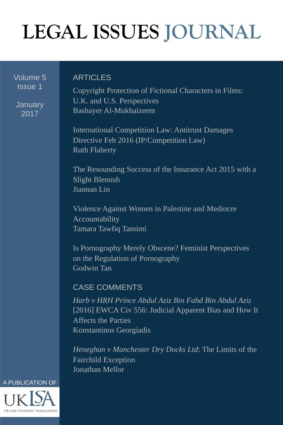 Issue 5(1) – Jan 2017