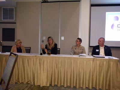 Pam Gillespie, Carol Craig, Lt. Erica Harris, Brian Jaskiewicz