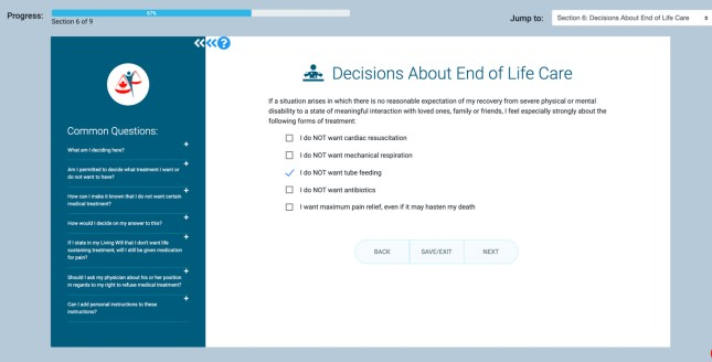 Living Will and Healthcare Directive