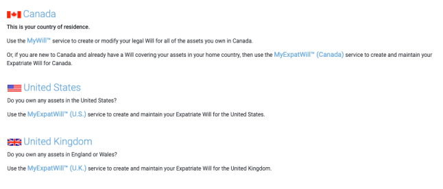 Expat Will service at LegalWills.ca