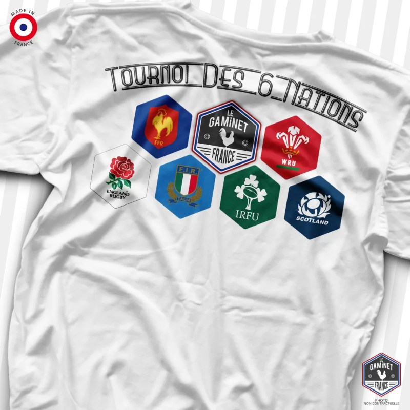 "T-Shirt ""Tournoi des 6 Nations"" : dos"