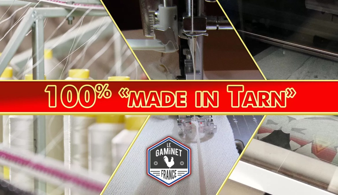Première production de t-shirts 100% «made in Tarn» !