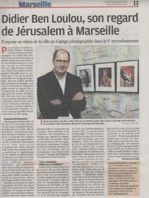Projet Marseille - Didier Ben Loulou (Résidence / Exposition / Edition) La Provence - 05.12.13