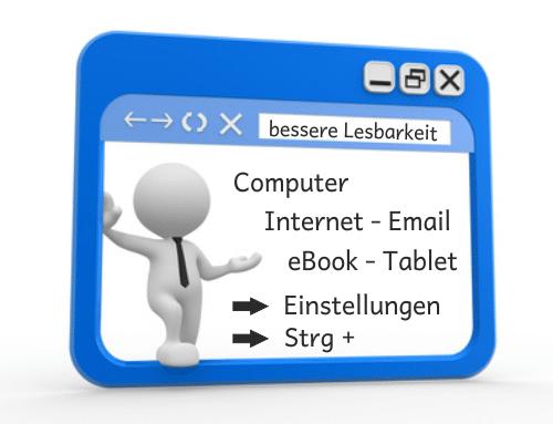 Computer, Webseite, Internet, Email, eBook, eReader, Tablet, Legasthenie, Lesen, Lesbarkeit, Font, Schriftart, Hilfe