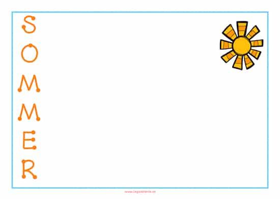 Sommerliche Gedichte, Sommer, schreiben, Legasthenie, Legasthenietraining, AFS-Methode