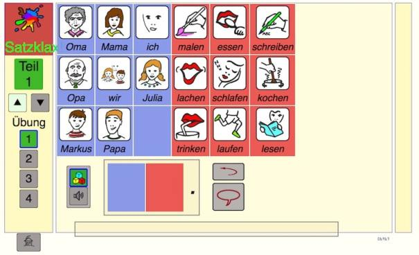 Satzklax, Grammatik, Deutsch lernen, DAF, DAZ, Legasthenie, Legasthenietraining