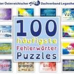 Wortpuzzles, Die 100 häuftigsten Fehlerwörter, Rechtschreibung, Legasthenie, Legasthenietraining, AFS-Methode, EÖDL, Kinder, lernen, Puzzles, Lernpuzzles, lernen
