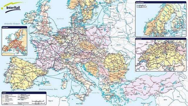 mapa interrail mapa interrail itinerario tren europa | Lega Traveler | Blog de  mapa interrail