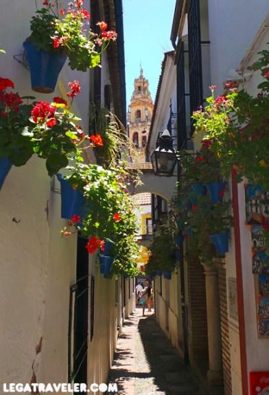 Calleja de las flores en Córdoba