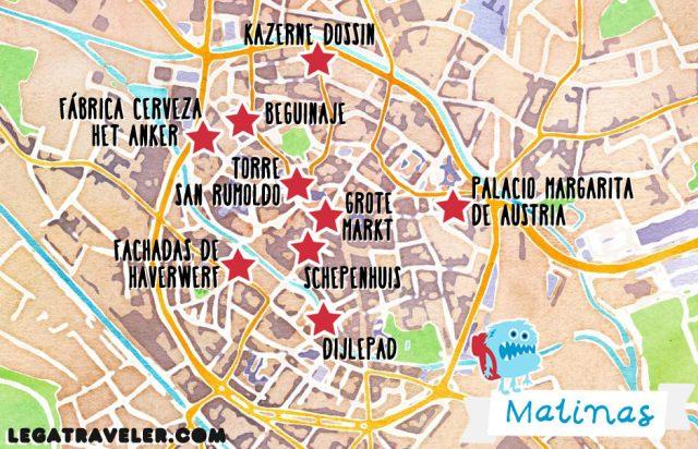 Mapa Malinas Belgica (Mechelen Map Belgium)
