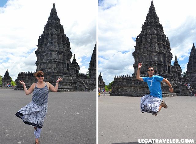 turisteo en Prambanan