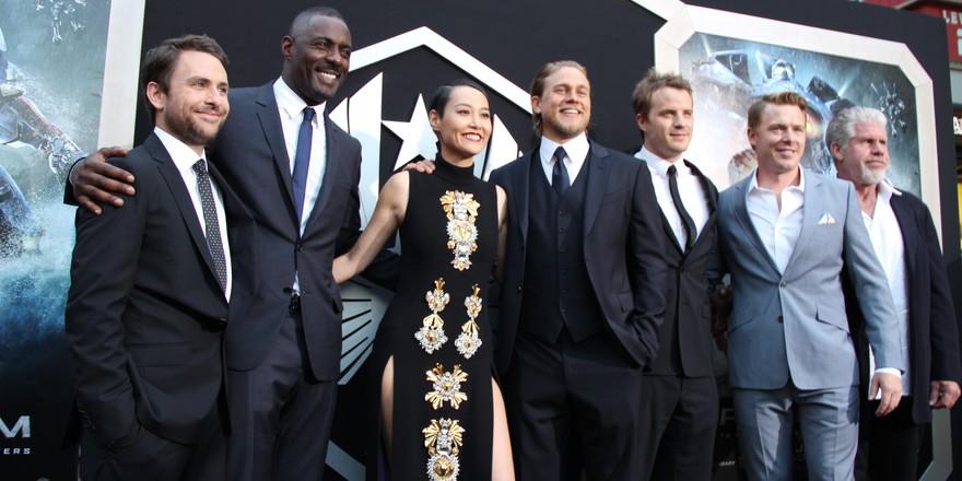 Pacific Rim cast, 6 men and 1 woman