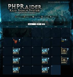 Nouvelle interface de notre planificateur de raids