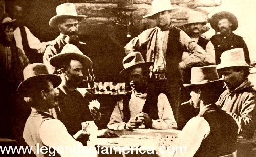 Playing Poker at Egan's Saloon in Burns, Oregon, 1882
