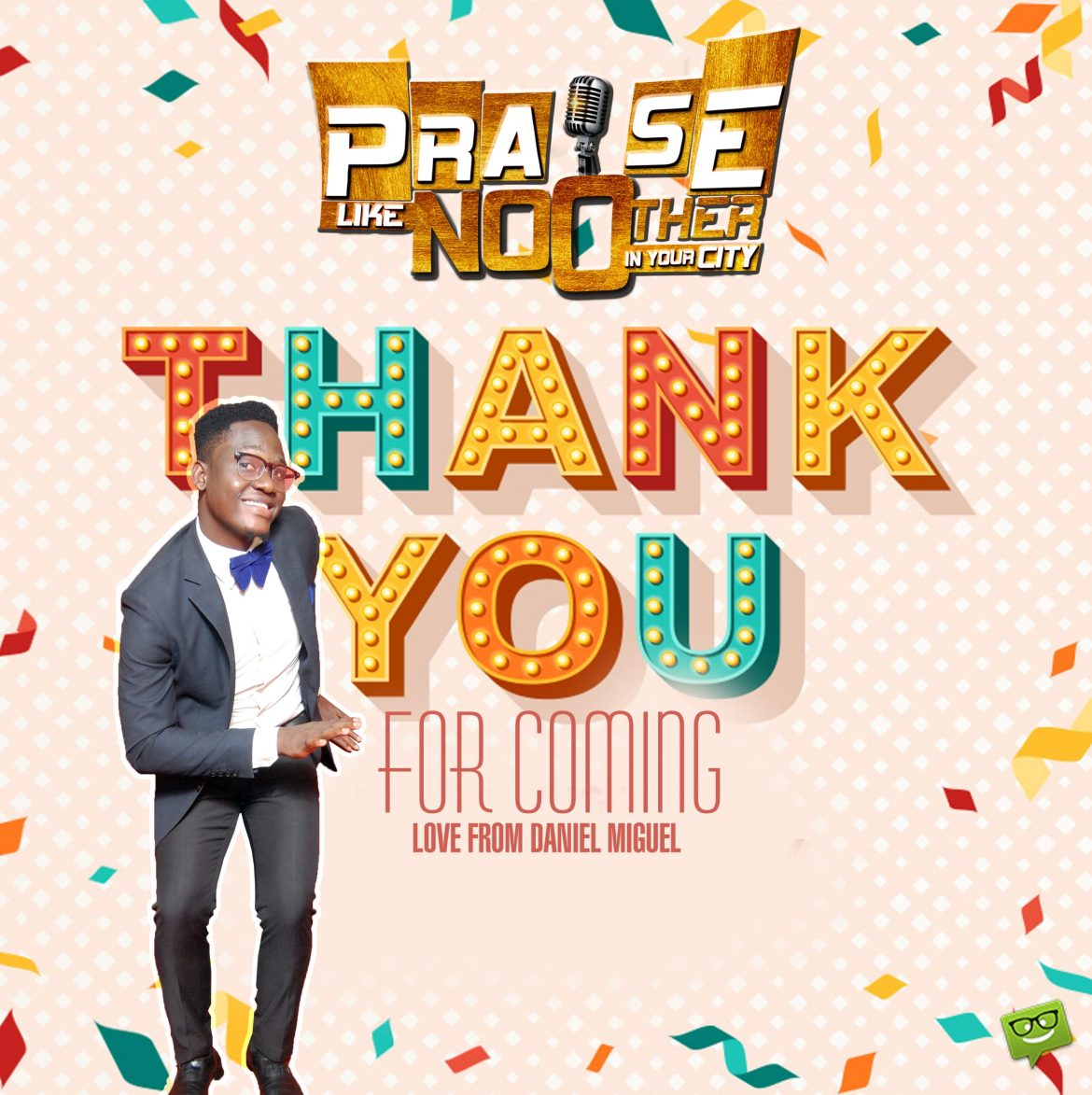 Daniel Miguel Appreciate everyone who came for Praise like no Other in Ibadan City