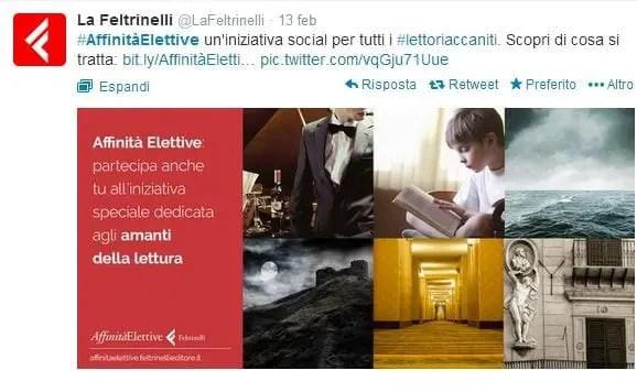 affinitaelettive La Feltrinelli lancia un nuovo progetto social: Affinità Elettive Letteratura