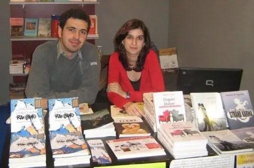Chiara Vitetta allo stand della Edizioni del Poggio all'Expolevante 2009