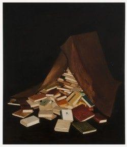 Andrei Roiter, Books I never read, 2011 Oil on canvas 140x120cm , Courtesy Laura Bulian Gallery