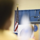 David Azerrad, fellow at The Heritage Foundation, speaks to The American Legion Boys Nation senators on Tuesday, July 25, 2017. Photo by Lucas Carter / The American Legion.