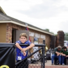 American Legion World Series Volunteer Grounds Crew member Reynolds Chadwick, 11, from Shelbyville, has been a base cleaner for a few years. He is photographed by in the grounds crew area at Veterans Field at Keeter Stadium, Friday, August 11, 2017 in Shelby, N.C.. Photo by Matt Roth/The American Legion.